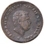 Italian coins;NAPOLI Ferdinando II (1830-1859) Tornese 1858 - Magliocca 783 CU (g 2.95) 8 della data