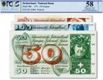 瑞士1971年50法郎、1967年100法郎、1968年500法郎共计3枚不同