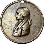 1809 James Madison Indian Peace Medal. Silver. Second Size. Julian IP-6, Prucha-40. Choice Very Good