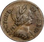 1785 Connecticut Copper. Miller 3.4-F.2, W-2345. Rarity-2. Bust Right, ETLIR. EF-45 (PCGS).