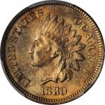 1880 Indian Cent. MS-64 RB (PCGS).