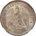 CHILE. Peso, 1882-So. NGC MS-64.