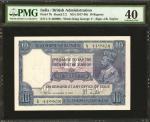 1917-30年印度政府10卢比。PMG Extremely Fine 40.