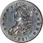 1821 Capped Bust Quarter. B-5. Rarity-4+. AU-50 (PCGS).