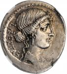 BRUTUS. AR Denarius (3.93 gms), Rome Mint, 54 B.C. NGC AU, Strike: 4/5 Surface: 3/5.