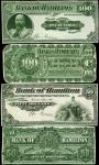 CANADA. Bank of Hamilton. 5 to 100 Dollars, 1904. CH #345-18-02p to 345-18-10p. Front & Back Proofs.