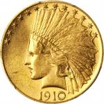1910 Indian Eagle. MS-64+ (PCGS). CAC.