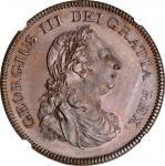 IRELAND. Bronzed-Copper 6 Shillings Bank Token, 1804. George III. NGC PROOF-66 Brown.