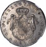 GERMANY. Baden. Taler, 1819/8-D. NGC MS-63.