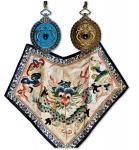 清代第一版三等二级银质双龙宝星勋章 极美