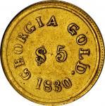 1830年邓普顿5美元 PCGS Genuine