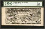 COLOMBIA. Banco de Cartagena. 10 Pesos. March 10, 1900. P-S347. PMG Very Fine 25.