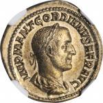 GORDIAN I AFRICANUS, A.D. 238. AR Denarius (3.43 gms), Rome Mint. NGC Ch AU, Strike: 5/5 Surface: 3/
