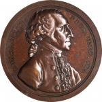 1797 (ca. 1859) Sansom Medal. First Reissue. Bronze. 40.72 mm. Musante GW-59, Baker-72A, Julian PR-1