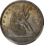 1875-S Liberty Seated Half Dollar. WB-10. Rarity-3. Very Small S. MS-62 (PCGS). CAC.