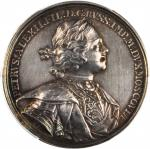 RUSSIA. Capture of Kexholm Silver Medal, ND (1710). Peter I (The Great) (1689-1725). PCGS SP-62 Secu