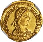VALENTINIAN III, A.D. 425-455. AV Solidus (4.38 gms), Ravenna Mint, ca. A.D. 425-426.
