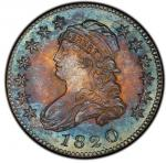 1820 Capped Bust Quarter. Browning-2. Large 0. Rarity-2. Mint State-66 (PCGS). PCGS Population: