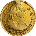 COLOMBIA. 1/2 Escudo & Escudo (2 Pieces), 1786 & 1798. Grade Range: FINE to VF.
