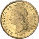COLOMBIE Nouvelle-Grenade (République de). 10 pesos 1857, Popayan.
