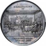 1852-1854独立宣言银质奖章 PCGS SP 63