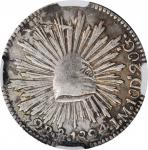 MEXICO. 2 Reales, 1824-Mo JM. Mexico City Mint. NGC VF Details--Surface Hairlines.