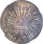 1850-Mo GC年墨西哥鹰洋壹圆银币。墨西哥城造币厂。 MEXICO. 8 Reales, 1850-Mo GC. Mexico City Mint. NGC MS-63.