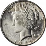 1925-S Peace Silver Dollar. MS-64+ (PCGS). CAC.