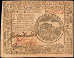 CC-26. Continental Currency. February 17, 1776. $4. Choice Very Fine.