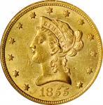 1855 Liberty Head Eagle. MS-60 (NGC).