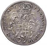 Foreign coins;MALTA Emmanuel Pinto (1741-1773) 30 Tarì 1757 - KM 256 AG (g 29.08) Tentativo di forat