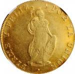 PERU. 8 Escudos, 1835-CUZCO B. Cuzco Mint. NGC AU-55.