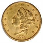 1874-CC Liberty Head Double Eagle. AU-55 (PCGS). CAC.