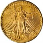 1911-D Saint-Gaudens Double Eagle. MS-66+ (PCGS).