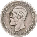 NORWAY. 2 Kroner, 1885. NGC VG-8.
