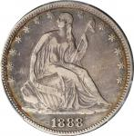 1888 Liberty Seated Half Dollar. WB-101. Fine Details--Cleaned (PCGS).