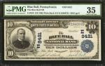 Blue Ball, Pennsylvania. $10 1902 Plain Back. Fr. 626. The Blue Ball NB. Charter #8421. PMG Choice V