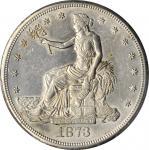 1873-S Trade Dollar. AU-58 (PCGS).
