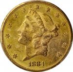 1884-CC Liberty Head Double Eagle. MS-60 (PCGS).