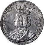 1893 Isabella Quarter. Unc Details--Cleaning (PCGS).