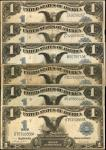 Lot of (6) $1 1899 Silver Certificates. Very Good to Very Fine.