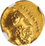 ITALY. Lucania. Metapontion. AV Tetrobol (1/3 Stater) (2.83 gms), ca. 280-279 B.C. NGC AU, Strike: 4