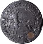 Undated (1737) Higley Copper. Freidus 3.3-C, W-8280. Rarity-7. VALUE ME AS YOU PLEASE / J CUT MY WAY