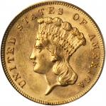1889 Three-Dollar Gold Piece. MS-63 (PCGS). CAC.