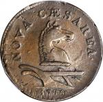 1786 New Jersey Copper. Maris 17-b, W-4870. Rarity-3. Narrow Shield, Straight Plow Beam, PLUKIBUS--O