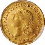 COLOMBIA. 2 Pesos, 1863-M. Medellin Mint. PCGS EF-40 Gold Shield.