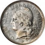 ARGENTINA. Peso, 1882. NGC MS-62.