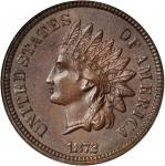 1872 Indian Cent. Bold N. MS-65 BN (NGC). CAC.