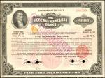United States of America. Federal Home Loan Bank. $5000 6-5/8% Consolidated Note. January 27, 1969.