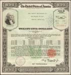 United States of America. World War II Era Collection of Savings Bonds, 1942-1945. Lot of Seven (7)